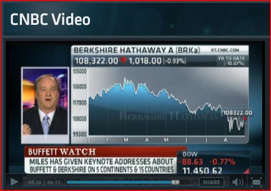 Robert Miles on CNBC Aug. 20, 2011